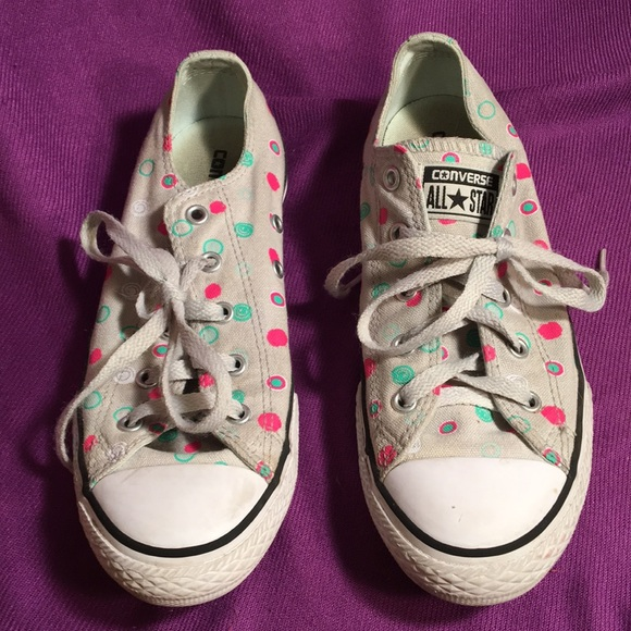 Converse Other - Converse all-star gray polkadot low tops